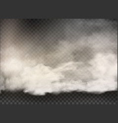 set clouds and sun on transparent vector image
