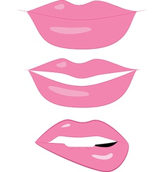 set of 3 LIPS vector image