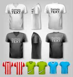 set of colorful male t-shirts vector image