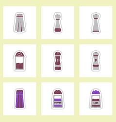 Set of label icon on design sticker collection vector