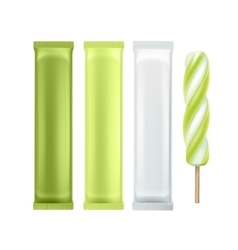 Set of Popsicle Lollipop Ice Cream on Stick vector image