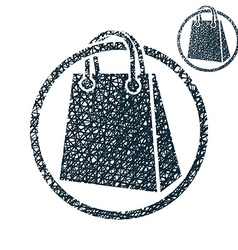 Shopping bag simple single color icon isolated on vector image