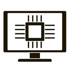 smart computer processor icon simple style vector image