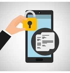 Smartphone document financial security vector