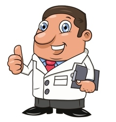 Smiling male doctor 2 vector image