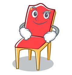 Smirking chair character cartoon collection vector