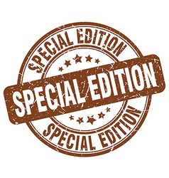 Special edition brown grunge round vintage rubber vector