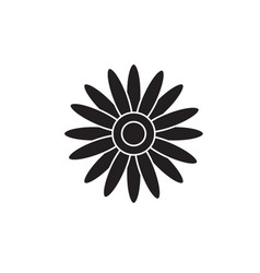 sun flower black concept icon sun flower vector image