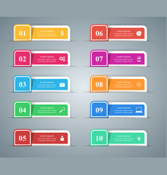 ten business infographic marketing icon vector image
