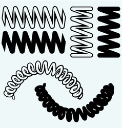 Tension springs vector