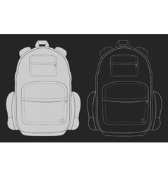 Travel backpack chalk vector image