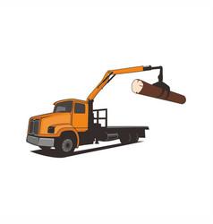 truck crane tree vector image