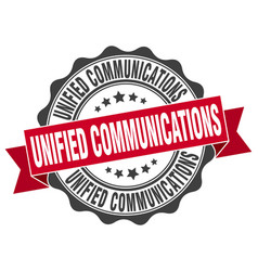 unified communications stamp sign seal vector image vector image