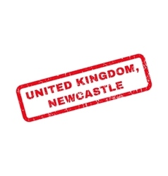 United Kingdom Newcastle Rubber Stamp vector