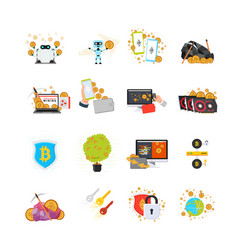 Various online processes with crypto currency vector