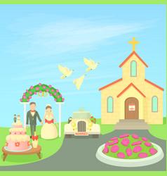 wedding concept cartoon style vector image