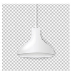 white hanging lamp isolated transparent background vector image