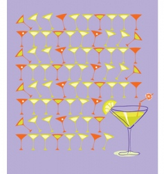 martini with lemon vector image vector image