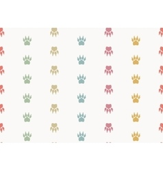 Paw prints Seamless background vector image
