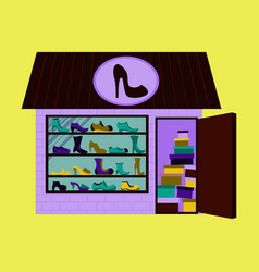 shoes store building vector image