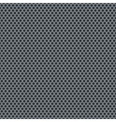 Silver metallic grid pattern vector image vector image
