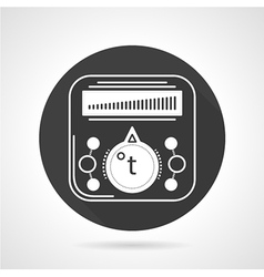 Thermoregulator black round icon vector image vector image