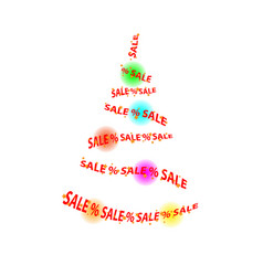 abstract sale in the store christmas tree balls vector image vector image