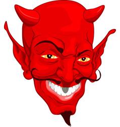 devil face vector image