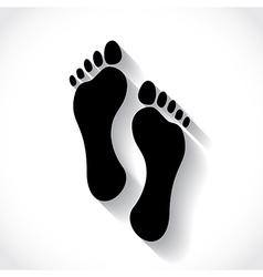 Footprint vector