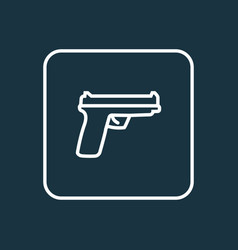 gun outline symbol premium quality isolated vector image vector image