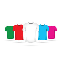set of tshirts with different colors vector image