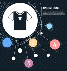 t-shirt icon with the background to the point and vector image