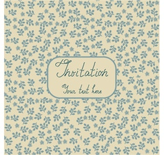 Floral Invitation Background vector image