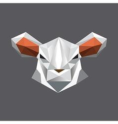 Origami sheep portrait vector image