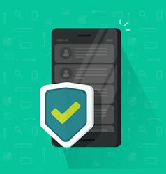 smartphone shield flat vector image