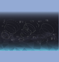head-up display elements for the spaceship vector image vector image