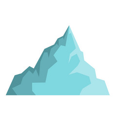 iceberg icon isolated vector image vector image