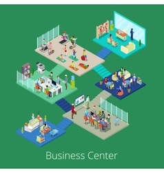 Isometric Business Office Center Building Interior vector image vector image