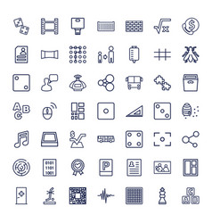 49 square icons vector