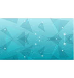 abstract geometric blue polygonal background vector image