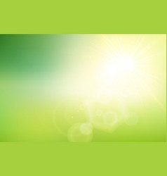 Abstract green nature gradient blurred background vector