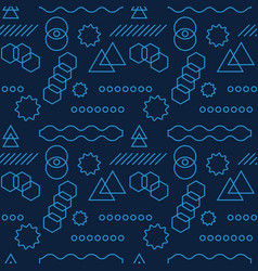 Abstract mechanism funny shapes seamless pattern vector