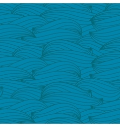 Abstract water waves seamless pattern vector image