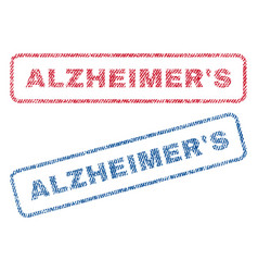 Alzheimer s textile stamps vector