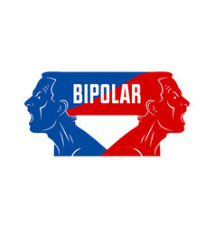 Ambivalence inner conflict and bipolar disorder vector