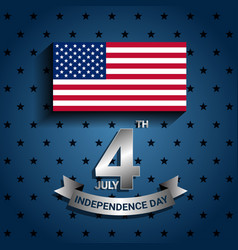american flag with ribbon for for independence vector image