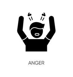 Anger black glyph icon vector