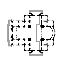Architectural design christian cathedral temple vector
