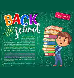 back to school for your text vector image