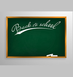 back to schooll blackboard background and wooden vector image
